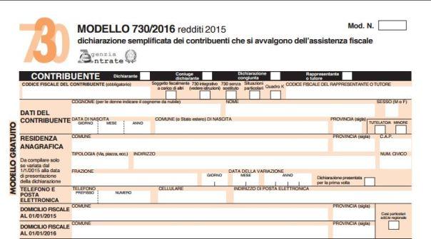 Fisco dichiarazione precompilata dall agenzia delle for Agenzia entrate dichiarazione precompilata