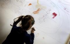 Un momento al MAXXI durante l'incontro delle famiglie degli autistici (in occasione della Giornata Mondiale sull'autismo), Roma 2 Aprile 2015. ANSA/GIUSEPPE LAMI