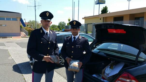 Arezzo arresto albanese con droga FOTO