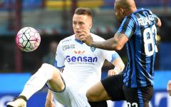 L'Empoli si arrende all'Inter: 2-1. Nerazzurri già qualificati ai gironi di Europa League. Pagelle