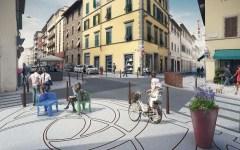 Firenze, via Gioberti: Marciapiedi più larghi, isole pedonali, arredi urbani diversificati. Il progetto del comune