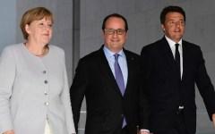 Brexit: Vertice Merkel - Hollande - Renzi non decide nulla. Si attende la richiesta della Gran Bretagna