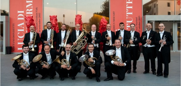 Gli ottoni del Maggio Musicale Fiorentino, il cui primo corno è art director dell'Italian Brass Week