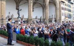 Firenze: Marsigliese e silenzio in piazza Signoria per la strage di Nizza