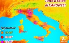 Meteo: è arrivato Caronte, caldo africano. Temperatura oltre 35° anche a Firenze. Dal 22 luglio rinfresca