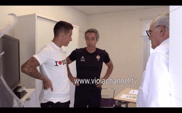 Tello con Paulo Sousa e Pantaleo Corvino