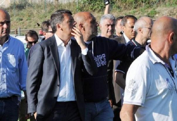 Matteo Renzi Presidente del Consiglio in visita ad Amatrice