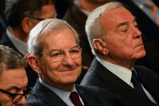 foto IPP/ Vincenzo Bruni  Roma 05-02-2015 Inaugurazione dell'anno giudiziario del Consiglio di Stato. nella foto: Luciano Violante (a sin.) e Gianni Letta.