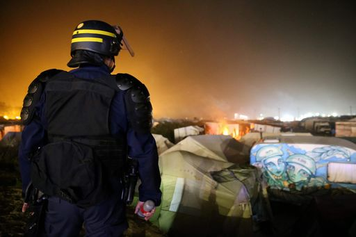FRANCE-EUROPE-MIGRANTS-BRITAIN-CALAIS-DEMOLITION