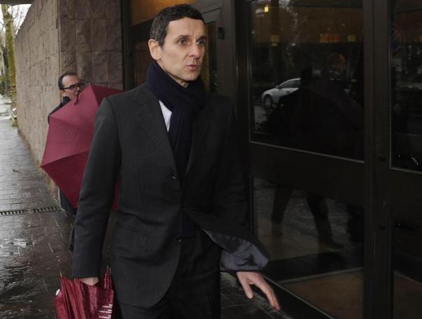 Marco Morelli, ex Vice Direttore Finanziario Mps, entra nella procura di Siena, l'11 Febbraio 2013. ANSA/NICCOLO CADIRNI