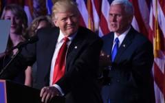 Trump con il vicepresidente Mike Pence