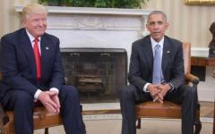 Presidenziali Usa: incontro con stretta di mano Trump - Obama alla Casa Bianca