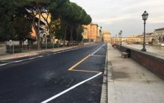 Firenze, Lungarno Torrigiani: dal 27 marzo lavori rete idrica e per la porta telematica lato Ponte alle Grazie