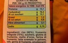 Etichette alimentari: scatta l'obbligo della dichiarazione nutrizionale