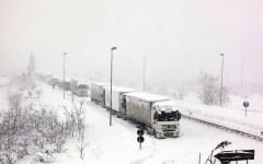 Maltempo: neve e vento forte su tutta la Toscana. Chiusa la E 75 a Pieve Santo Stefano