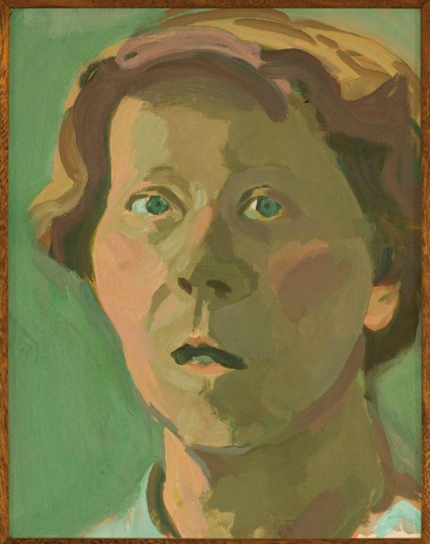 Autoritratto 1981 olio su cartoncino Firenze, Gallerie degli Uffizi, Galleria delle Statue e delle Pitture, Corridoio Vasariano,