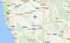 Terremoto: nuova scossa di magnitudo 2.5 con epicentro a Castelfiorentino. Paura ma nessun danno