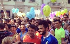Prato: Matteo Renzi partecipa alla maratonina col sindaco Matteo Biffoni
