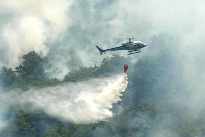 Un grave l'incendio si è sviluppato a Montemassi