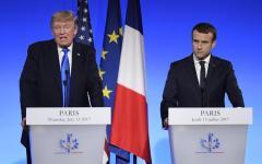 Parigi: vertice Macron - Trump, che fa i complimenti alla première dame Brigitte