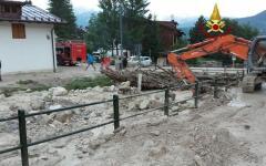 Cortina d'Ampezzo: un morto per una bomba d'acqua, travolto da una frana