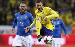 La Svezia provoca e batte l'Italia con autogol di De Rossi: 1-0. Palo di Darmian. Mondiali a rischio