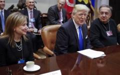 Trump: America first anche per l'industria automobilistica, e loda Marchionne