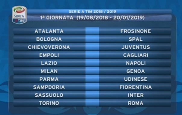 Udinese Calcio Calendario.Calendario Serie A Prima Giornata Sampdoria Fiorentina