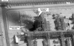 Usa: ecco le foto dei satelliti, l'attacco a Riad dall'Iran. Petrolio a 60,36 dollari al barile