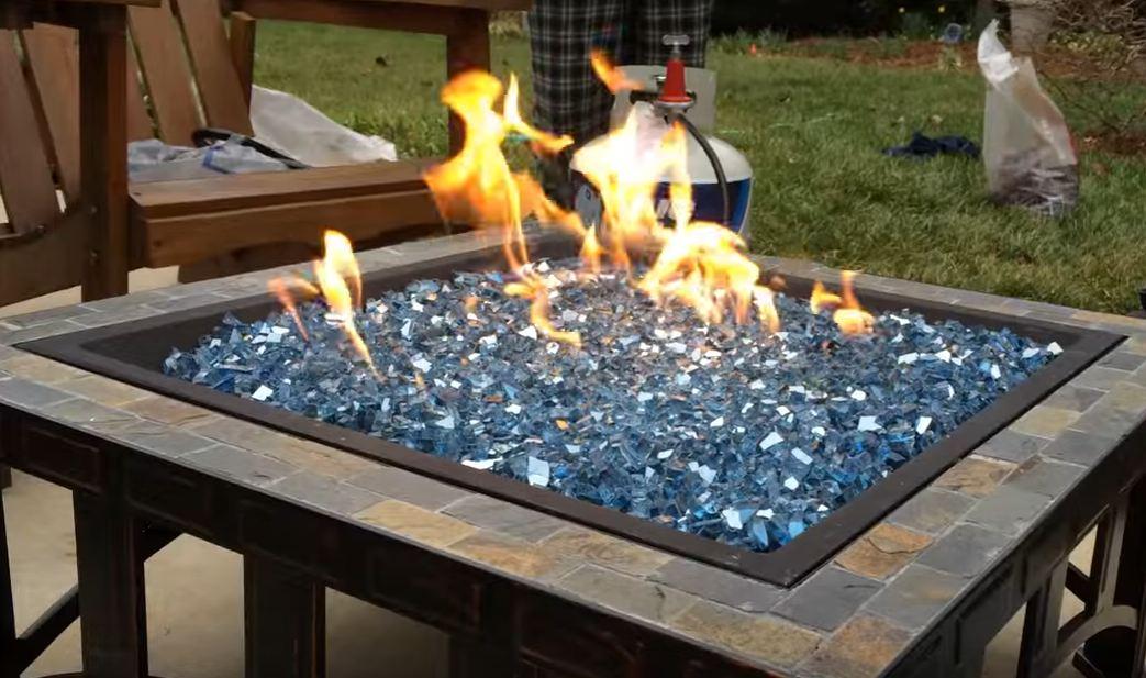fire pit glass beads