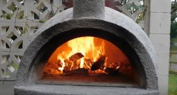 terracotta chiminea pizza oven