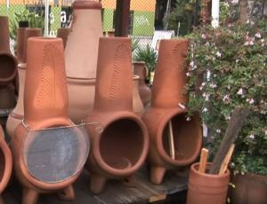 clay chiminea heb