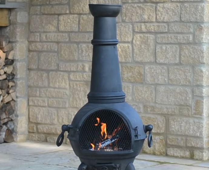 metal chiminea fire pit