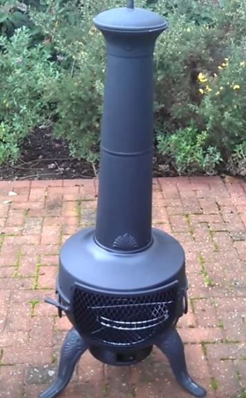 metal chiminea for small deck