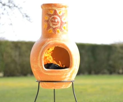small chiminea for terrace