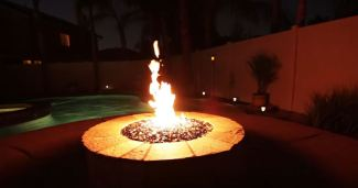 backyard fire pit table