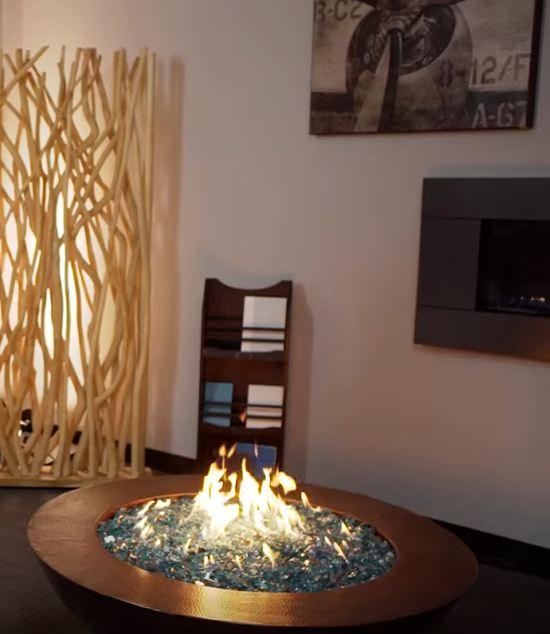 cheap fire pit glass