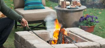 cheap stone fire pit