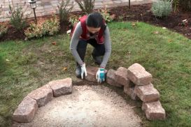 diy how to build a outdoor fire pit
