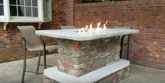 fire pit designs with seating