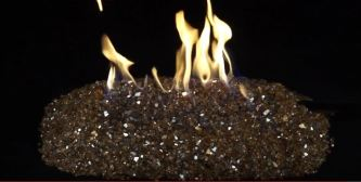 fire pit glass black