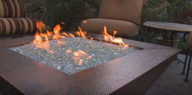 fire pit glass kit