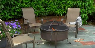 fire pit ideas with a roof