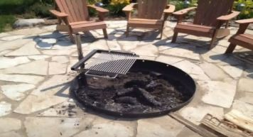 fire pit insert with grill
