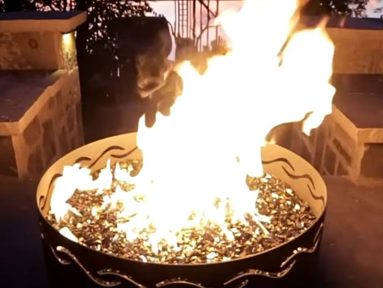 How to use the fire pit ring