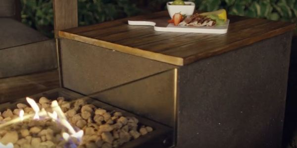 fire pit table grill