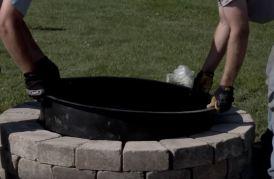 metal fire pit insert