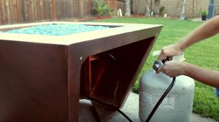 natural gas fire pit pipe