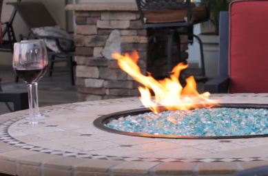 natural gas fire pit ring
