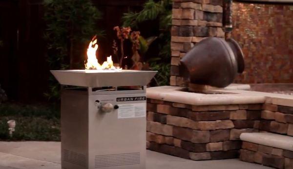 propane fire pit set